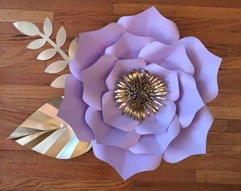 Paper Flower Template Digital, PDF #12