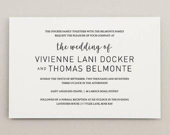 CHIC ROMANCE | printable wedding invitation | digital file | wedding stationery suite