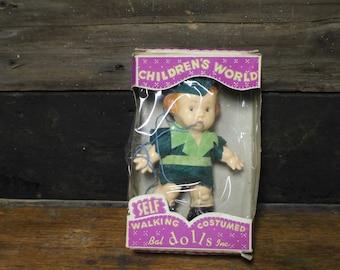 Vintage Childrens World Self Walking Doll Peter Pan
