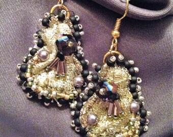 GOLD GUITAR earrings