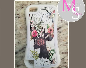 Monogram iPod 6 Touch 2 Layer Tough Case Personalized iPod 5 Case RealTree Camo Real Tree Monogrammed 2 Layer Protective iPod Case #2738