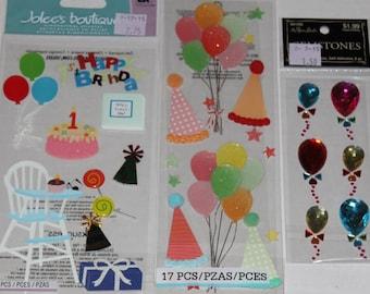Birthday Sticker Lot