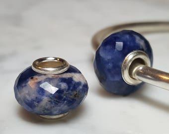 Sodalite Gemstone European Bead