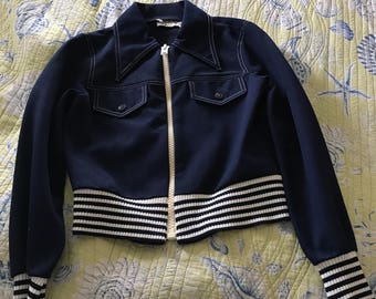 Adorable fitted sailor looking  jacket