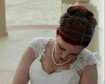 Bridal Veil, Wedding Veil, French Net Bridal Veil, Bandeau Wedding Veils, Ivory Veil, White Veil, Bridal Veils, Bridal Wedding Veil, Veils