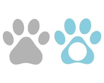 Paw svg Dog Paw Svg Cat Paw Svg Animal Paw svg Paw print svg monogram svg cutting file for Cricut Explore Silhouette Cameo dxf files svg