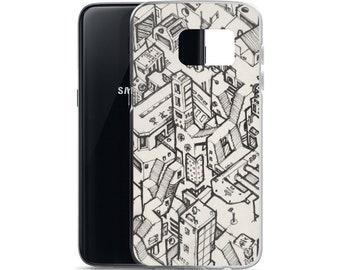 Cyberpunk Scifi Metropolis #01 - Samsung Case