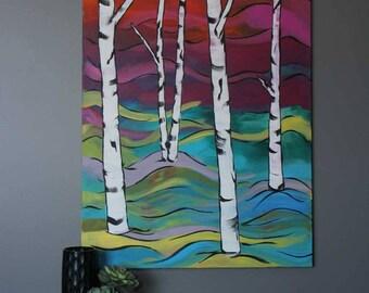 """Five Pillars 36""""x48"""" Original Acrylic Painting"""