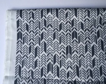FQ Alison Glass Feathers Sun Print in charcoal