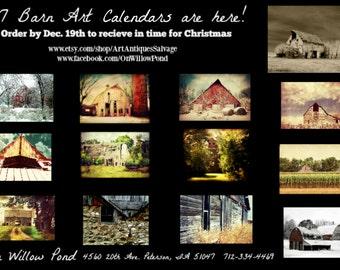 Calendar / 2017 Calendar / Barn Art Calendar / Julie Hamilton Calendar / Rural Calendar / Wall Calendar