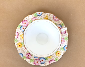 Royal Albert teacup, floral teacup, rainbow teacup, vintage teacup, tea gifts, Royal Albert tea cup, tea party decor, tea set, tea gift