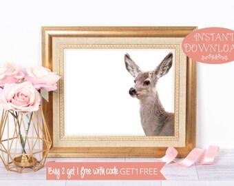 Deer Print, Printable Wall Art, Deer, Printables, Deer Art, Minimalist Print, Wall Art Prints, Minimalist Art, Prints, Art Prints, Modern