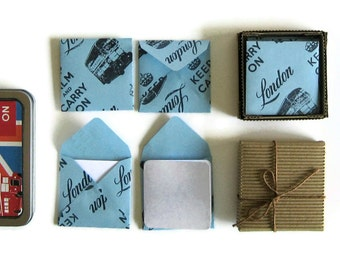Blue London Stationery Set with Blank Note Cards