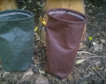 Standing Waxed Canvas Tinder Pouches - Bushcraft / Outdoors