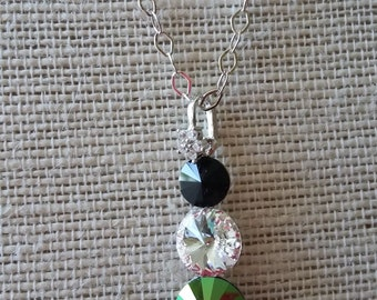 SALE: Swarovski Crystal Pendant Necklace with Sterling Silver Chain
