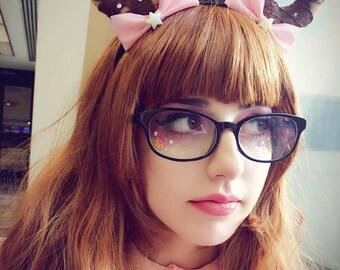 Melty Donut Doughnut Mickey Eared Kawaii Sweet Lolita Headband