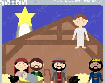 The Nativity / First Christmas Digital Clipart