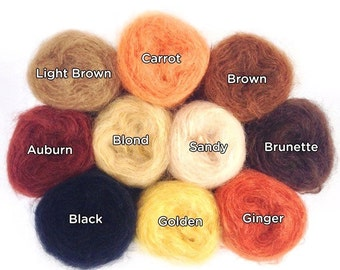 Smooth Mohair Doll Hair Yarn for Joy's Waldorf Dolls