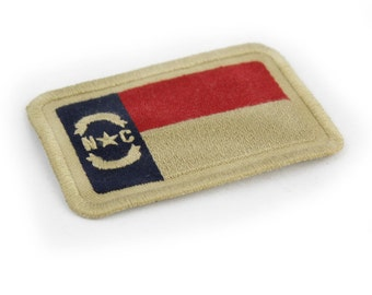 North Carolna Embroidered Flag Patch