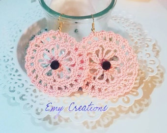 Wheeled earrings-Round earrings