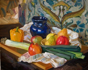 Original Oil Painting Jug by Anastasia Kaufman