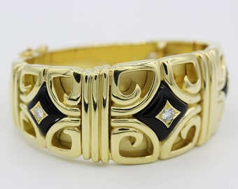Vintage 18k Yellow Gold Van Cleef and Arpels Cuff