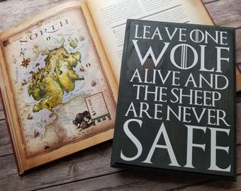 Sheep Are Never Safe - 11.5 x 8.5 Wood Plaque - Game Of Thrones