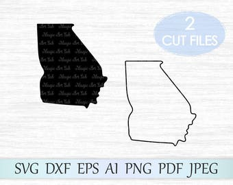 Georgia state svg, Georgia silhouette svg, Georgia vector, Georgia clipart, GA svg file, Georgia cricut svg, Georgia cut file, Georgia svg