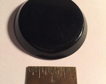 1 3/4in Vintage Bakelite Disk Black