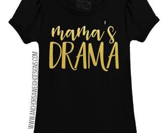 Mama's Drama Puff Tee