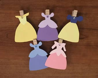 Princess Photo Clips, Princess Birthday, Aurora, Snow White, Belle, Cinderella, Rapunzel