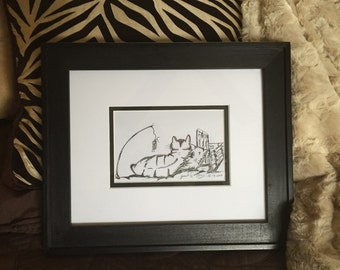 Wall Art, Pen and Ink - Original Drawing - Framed Wall Art