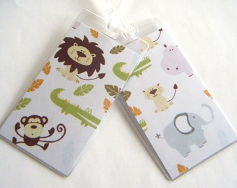 Zoo Animals Luggage Tag Pair