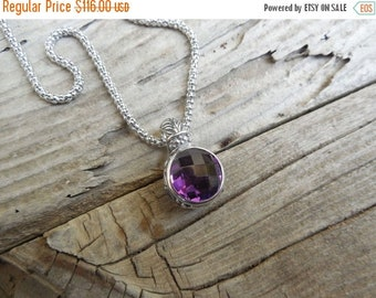 ON SALE Gorgeous amethyst necklace handmade in sterling silver