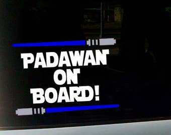 Padawan On Board Car Decal - Star Wars Jedi Lightsaber Baby on Board Car Sign - Mother Gift - Baby Shower Gift