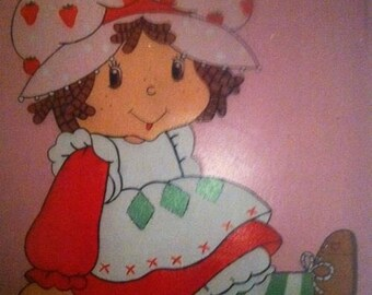 Hand painted wall mural-Strawberry Shortcake