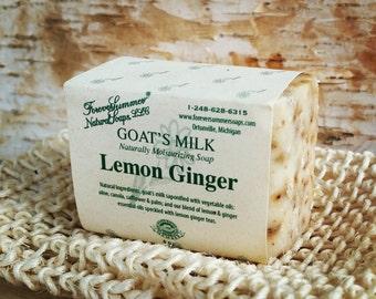 Lemon Ginger Goat's Milk Soap