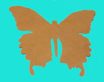 Deer Skin Butterfly Applique, Suede Leather, Handmade from Die