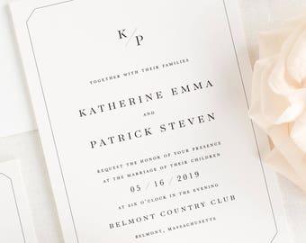Katherine Wedding Invitations - Sample