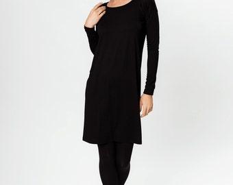 Black dress | Button dress | Simple dress | LeMuse black dress