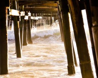Under the Pier PRINTABLE | San Clemente, California Photo Print | wall art print, California prints, beach prints, decor