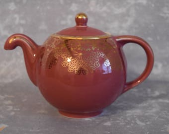 Pink and Gold Hall Teapot