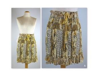 70s Hippie Mini Skirt in a semi sheer gauze NOS wring n roll