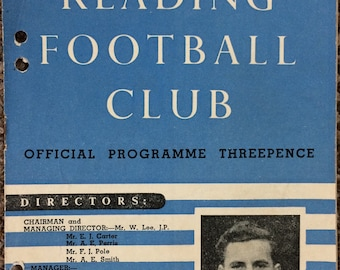 1952 Reading v Watford - vintage football programme - Football gift for him, Reading gift, Father's Day, birthday or Christmas gift