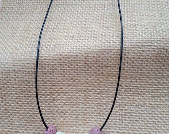 Made with love and lava bead necklace