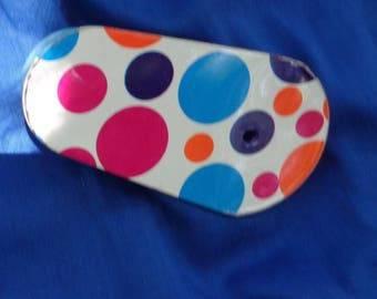Vintage Halloween Noise Maker Tin Ratchet Noisemaker, Tin Lithographed pink orange blue by JeansVintageCloset on Etsy