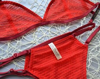Handmade sheer lingerie