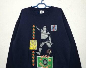 Vintage 90s USA Team Football Soccer Goal Sweater Sweatshirt