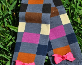Squares Leg Warmers- customize available
