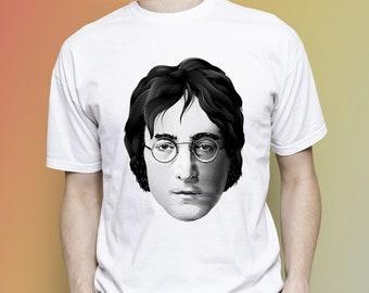 John Lennon T-shirt, Beatles men T-shirt, Beatles women T-shirt, Music people, Classic man, Classical woman, Beatles birthday,Gift for woman